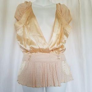 LUNDGREN & WINDINGE Blush Silk Blouse Top